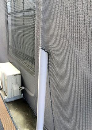 商業ビル 外壁剥落防止ネット取付工事